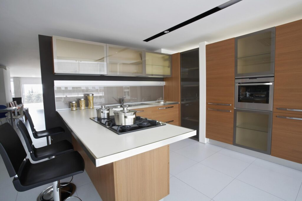 kitchen with built in appliances