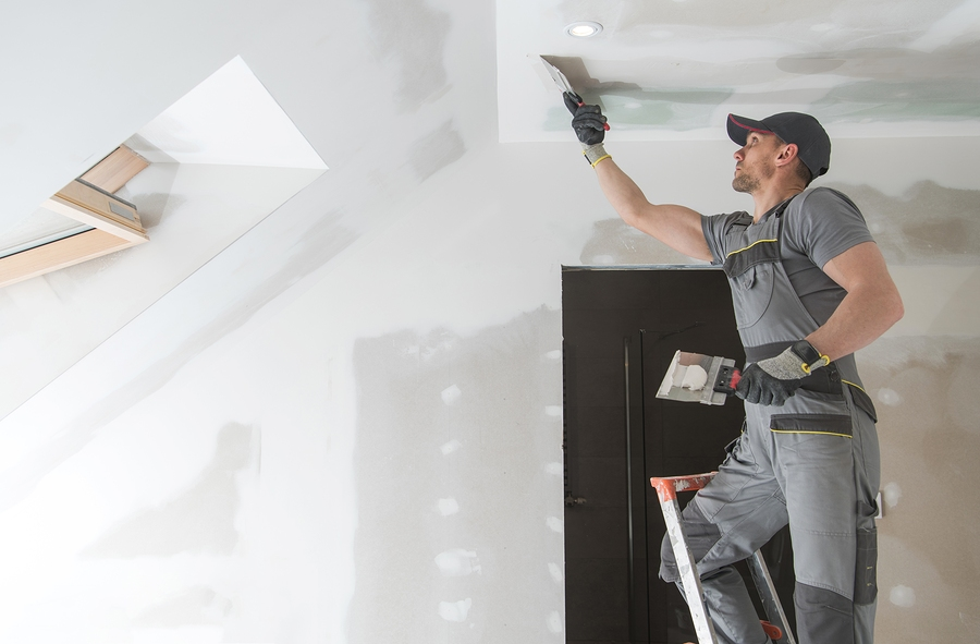 finishing and patching drywall walls